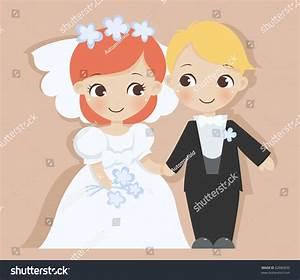 Cute Bride Groom Stock Vector 82886830 - Shutterstock