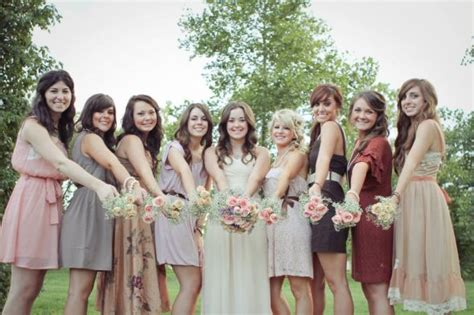 Barn Wedding Bridesmaid Dresses by Searching For Rustic Mismatched Bridesmaid Dresses