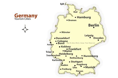 german cities map  places  visit  germany