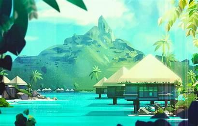 Animation Backgrounds Gilleard James Paradise Boggling Mind