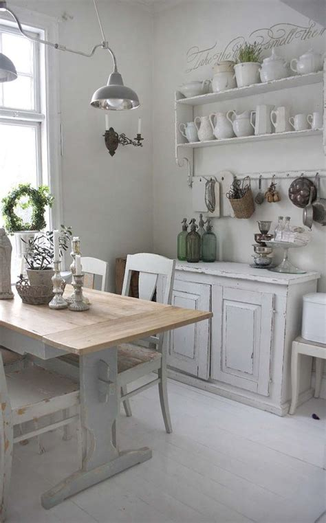 cuisine shabby chic dining room white grey black chippy shabby chic