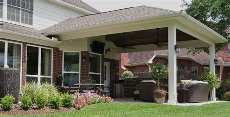 patio cover outdoor kitchen in first colony texas custom patios