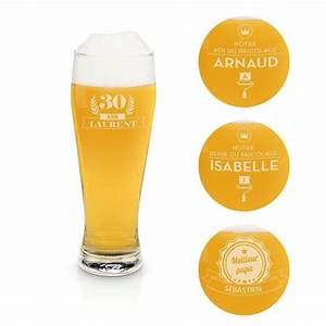 Trinkglas 0 5 L : verre bi re blanche personnalisable 0 5l ~ Orissabook.com Haus und Dekorationen