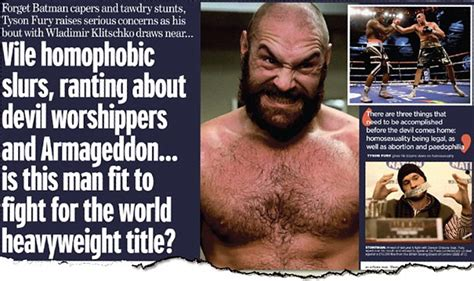 Tyson Fury is a bully and a bigot who even lacks the ...