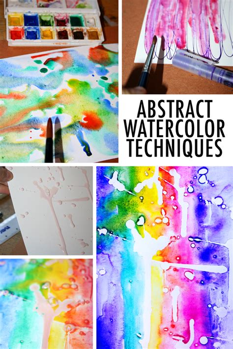 8 abstract watercolor techniques to try