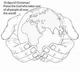 Holding Hands Coloring Colouring Hand Draw Clipart Earth God Pages Sheets Sketch Google Drawings Clip Children Bible Pre Something Preschool sketch template