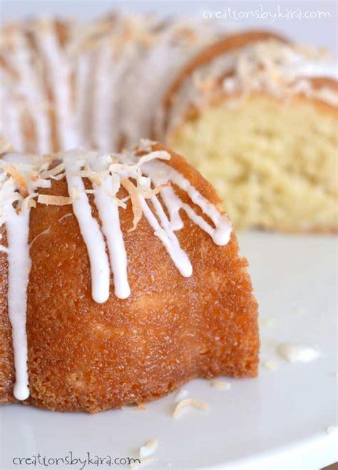 cream  coconut bundt cake