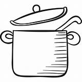 Pot Icon Spoon Svg Crock Icons Others Flaticon sketch template