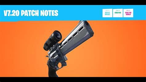 Fortnite V7.20 Patch Notes - YouTube
