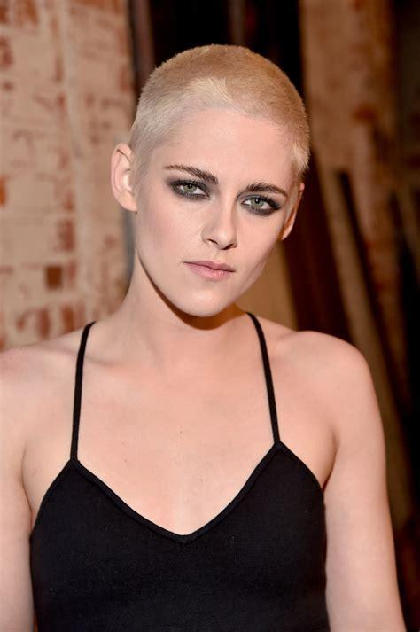 Kristen Stewart unveils bleach blonde buzzcut at Personal