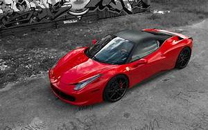 Red Ferrari 458 Italia Wallpaper · iBackgroundWallpaper