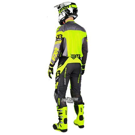 black friday motocross gear 2018 fxr racing revo mx jersey black yellow sixstar racing