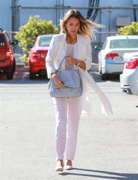 Jessica Alba Street Fashion - Going to Her Company in ...