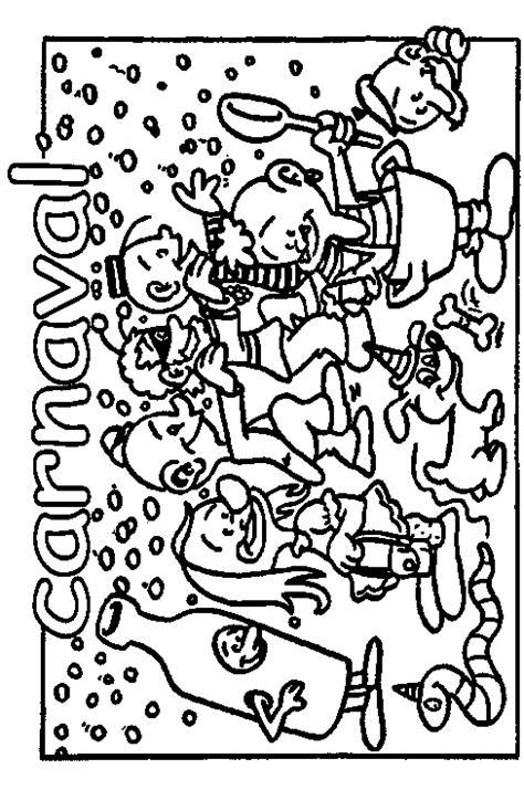 Carnaval Kleurplaat Printen by Kleurplaten Feest