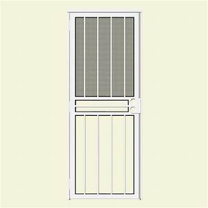 unique home designs 32 in x 80 in paladin white recessed With unique home designs screen door