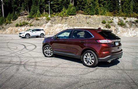 Comparison 2015 Ford Edge Titanium Vs Nissan Murano