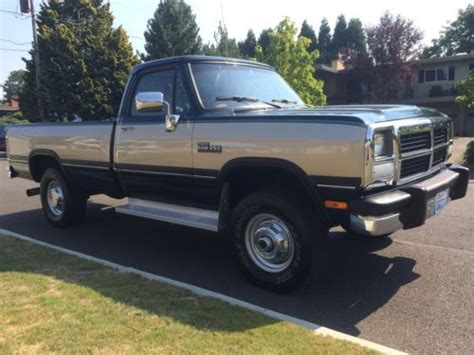 how to sell used cars 1992 dodge ram sell used 1992 dodge ram 2500 cummins diesel 4x4 low miles in portland oregon united states