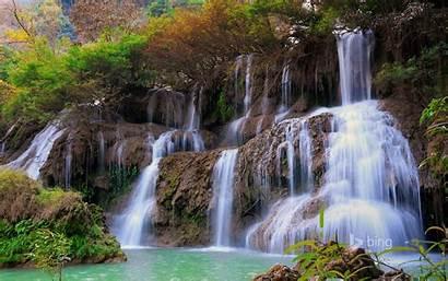 Bing Waterfall Largest Theme Nature Thailand Mae