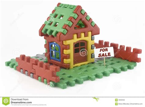 house made of blocks house made of toy blocks stock photos image 4040453