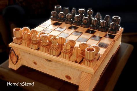 wood chess set large turned family handmade michigan