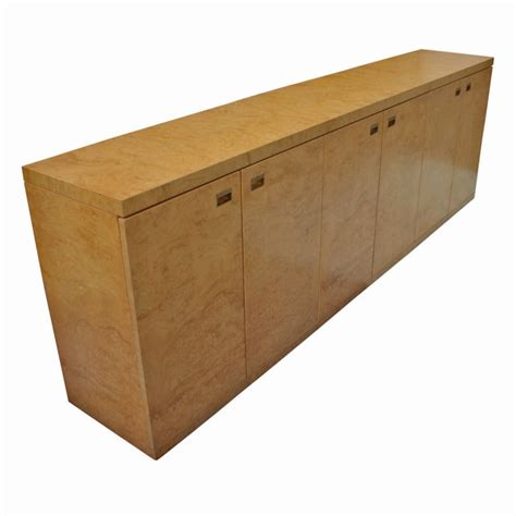 Maple Credenza - burled maple credenza cabinet for sale at 1stdibs