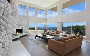 Wohnzimmer Modern Steinwand
