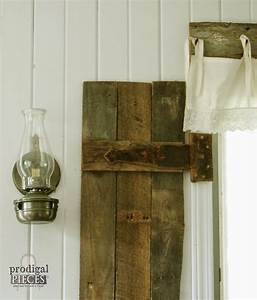 diy barn wood shutters from pallets prodigal pieces With barnwood pieces