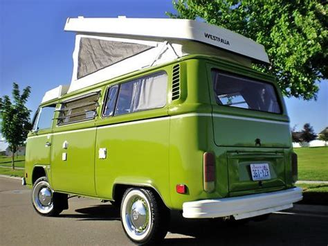 volkswagen westfalia cer buy used 1977 vw westfalia pop top cer full restored
