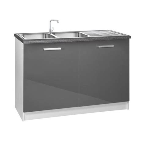 meuble cuisine bas 120 cm sous évier tara achat vente