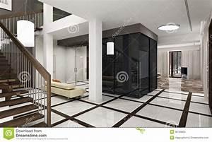 hall de luxe avec l39escalier dans une nouvelle maison With hall de maison moderne