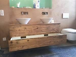 Waschtischunterschrank Selber Bauen : bad unterschrank holz ~ Lizthompson.info Haus und Dekorationen