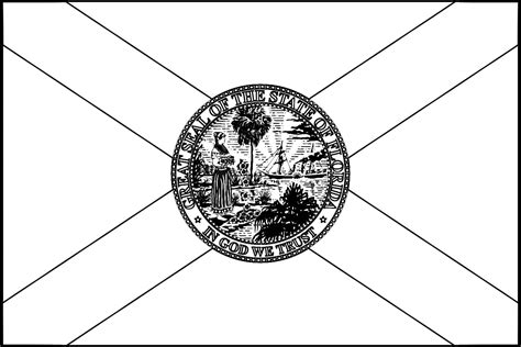 Florida Flag Coloring Page Coloring Pages