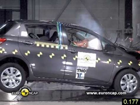 viz car test toyota yaris crash tests 2011