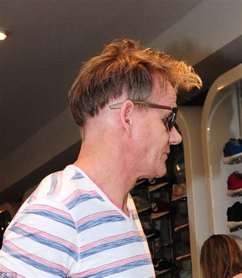 gordon ramsay sports   bizarre hair  severe