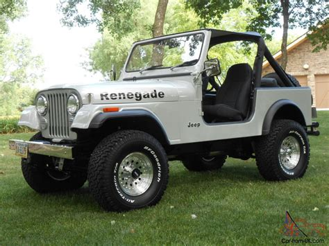 renegade jeep cj7 1985 jeep cj7 renegade fresh two year restoration