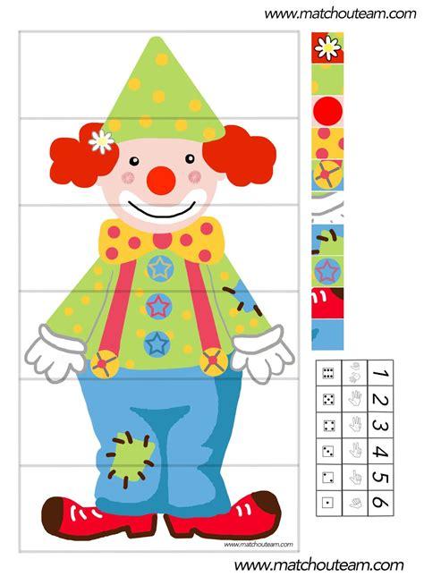 petit materiel de cuisine ma tchou team jeu autour d 39 un clown à imprimer
