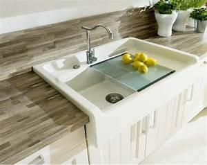Evier Cuisine Ceramique Blanc : evier de cuisine blanc ~ Premium-room.com Idées de Décoration