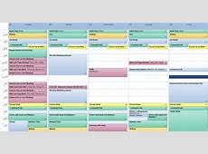 Excel Weekly Calendar Template calendar template excel