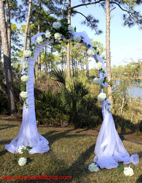 White Hydrangea Wedding Arch Kims Wedding Pinterest