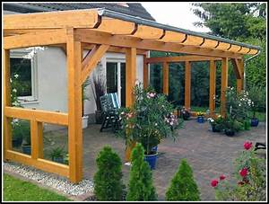 Terrassenuberdachung selber bauen einfach sichtschutz for Terrasse einfach bauen