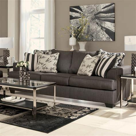 ashley furniture levon sleeper sofa signature design by ashley levon sofa charcoal