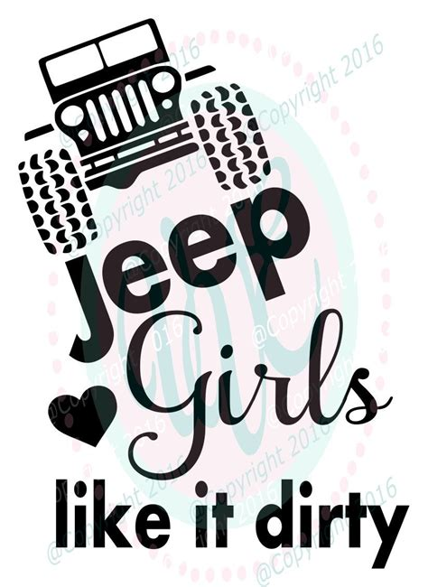 jeep girls   dirty svg dxf png climbing jeep