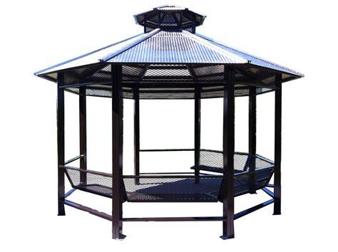 Gazebo Steel Steel Tables Benches Gazebos And Bollards Barrier Posts