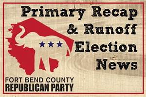 Primary Recap & Runoff Election News – Fort Bend County ...