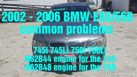 Bmw 745i Problems by 2002 2008 Bmw 745i 745li 750i 750li Common Problems Bmw