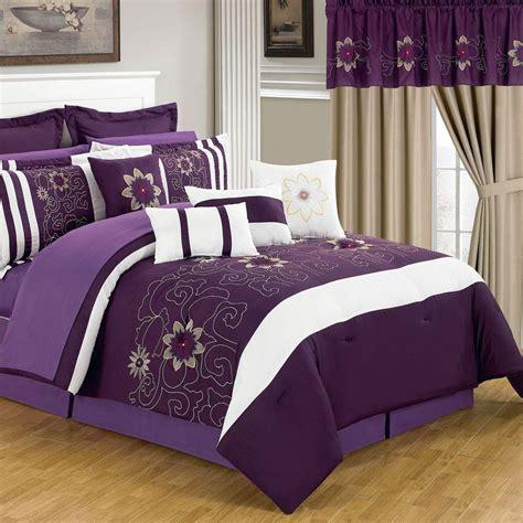 10766 24 bed in a bag lavish home amanda purple 24 comforter set 66