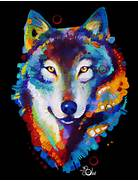 Wolf by TooMuchColor on DeviantArt  Colorful Wolf Painting