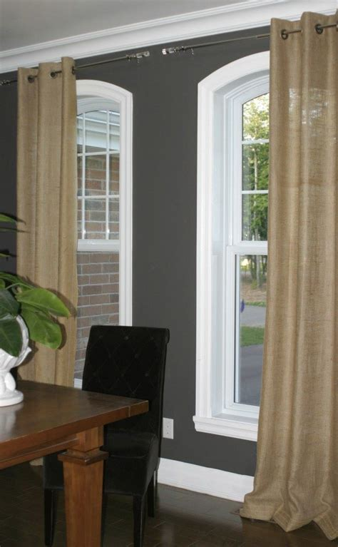 finally  burlap curtains love home dining rooms