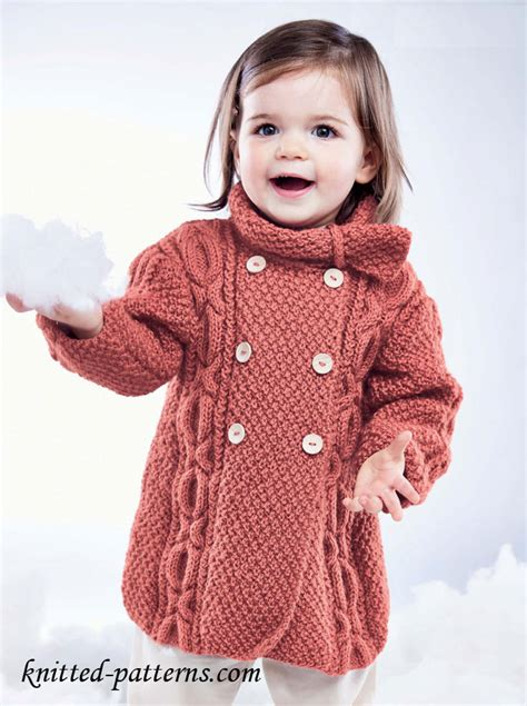 girls cable coat