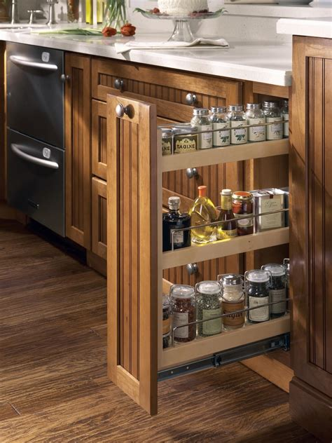 slide out spice racks for kitchen cabinets kitchen cabinet buying guide hgtv 9767